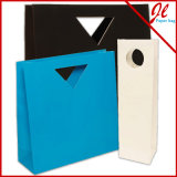 Sac estampé de papier de Brown emballage de sac de papier d'emballage de sacs de transporteur de sac de papier pour des achats