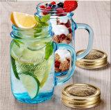 16oz 17oz 32oz Glasmaurer-Gläser, die Maurer-Glas mit Griff und Stroh trinken