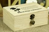 O vinho personalizado da madeira de pinho encaixota a caixa de indicador na cor natural