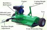 Косилка Flail отделки многофункционального и горячего сбывания Towable с газолином 15HP или двигателем дизеля