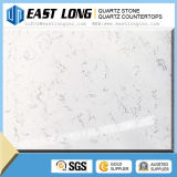 Matériau de construction extérieur solide de Calacatta de quartz de pierre de partie supérieure du comptoir artificielle de brame