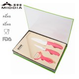 3PCS Potato Peeler & Kitchen Knife Set с Gift Box Packaging