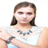 De nieuwe Armband van de Oorring van de Halsband van de Juwelen van de Manier van de Hars van het Ontwerp Zwarte Vastgestelde