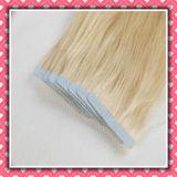 Blondine-Farbe hochwertige des Menschenhaar-Extensions-Haut-einschlaghaar-20inch