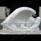 Pierre tombale blanche commémorative Mem-155 de Carrare de granit en pierre de marbre