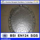 ISOのセリウム、3A証明の衛生3bar圧力円形の外へ向かうマンホールカバー