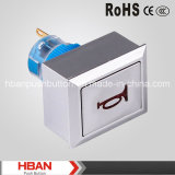 Hban CER RoHS (22mm) Momentary Latching mit Horn Symbol Push Button