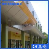 Painel composto de alumínio colorido para o revestimento da parede (ACP)