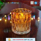 Sostenedor de vela votivo al por mayor del vidrio cristalino para la decoración
