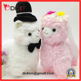 Игрушка светильника венчания игрушки плюша подарка венчания заполненная парами