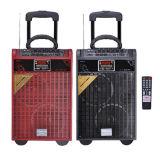 Buena calidad 15 pulgadas del equipaje de la carretilla de altavoz plástico de DJ
