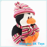 Cute Penguin with Hat & Scarf Peluches