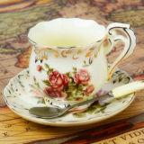 Кофейная чашка фарфора кофейной чашки шикарной конструкции керамическая