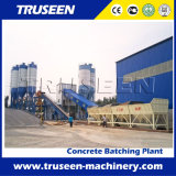 Equipo de procesamiento por lotes por lotes concreto fijo famoso de la construcción de una fábrica 90m3/H en africano
