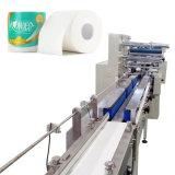 Cadena de producción del rodillo de tocador empaquetadora del papel de tejido de tocador