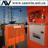 Máquina gemela del elevador de las jaulas Sc100