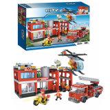 Jeu en plastique de camion de jouet de synthon de construction de ville