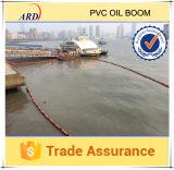 Boom del petróleo sólido del PVC del flotador de la flotabilidad grande de la reserva