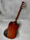 Luz da qualidade - guitarra elétrica do SG do corpo de mogno marrom