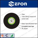 Il singolo modo ha ondulato il cavo ottico corazzato della fibra del nastro d'acciaio (GYFXS)