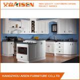 Module de cuisine blanc en bois solide de portes de type de dispositif trembleur