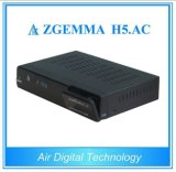 ATSC Digital Fernsehapparat-Empfänger Zgemma H5. Wechselstrom mit Linux Enigma2 OS-Support Hevc H. 265