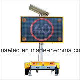 Remorque solaire de VMs de DEL, VMs solaires de remorque d'Afficheur LED de produits de technologie neuve