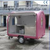 La nourriture de camion de nourriture verte transporte en charrette les chariots extérieurs de nourriture de vente