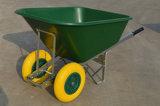 Горячая тачка Wb9600 сбывания, конструкция промышленного здания, двойная тележка отброса ручных резцов колес