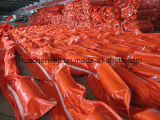주황색 산업 설비 PVC 기름 견제 붐