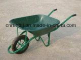 Wheelbarrow revestido da construção do pó de África do Sul (Wb6400)