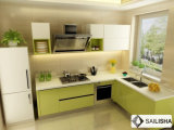 현대 녹색 가정 호텔 가구 섬 목제 부엌 찬장