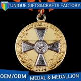 L'OEM della fabbrica della Cina ordina le medaglie di oro con il medaglione del nastro