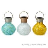 Lampe portative décorative de Tableau solaire en verre d'art