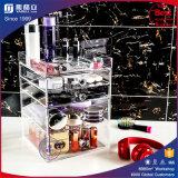 Transparenter 5 Fach-Acrylverfassungs-Schönheits-Kasten
