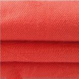 Tissu d'armure rouge de sergé de tissu de jacquard de rayonne pour la chemise