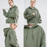 Сверхразмерный пуловер Hoody женщин спорта полиэфира полиэфира 20% шотландки 80%