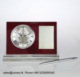 Orologio di legno dello scrittorio di affari di alta qualità con la penna K8033