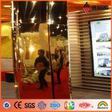 Los paneles compuestos de aluminio 2015 del espejo de oro de la decoración ACP del pilar (AE-202)