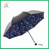 ثلاثة يطوي مظلة دليل استخدام مفتوح صلبة [بونج] مطر و [سون ومبرلّا] لأنّ بالغ