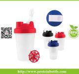 bottiglia della proteina 400ml con il miscelatore di plastica