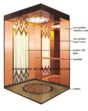 Passeggero Elevator con Rosa Golden Stainless Steel Car Cabin