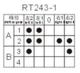 5 de Roterende Schakelaar van de positie voor Verwarmer (rt243-1)