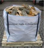 Sac enorme tissé par pp en vrac FIBC de conteneur de bois de chauffage