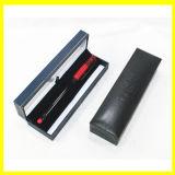 Rectángulo de regalo rectangular negro largo para los bolígrafos