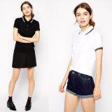 Chemises de polo des femmes faites sur commande de qualité neuve de modèle de constructeur OEM