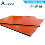 les graines en bois PVDF de 3mm/feuilles d'ACP/prix composé en aluminium de panneau