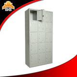 Cacifo colorido do Wardrobe de Kd 15-Doors do metal do armazenamento do Sell quente