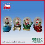 Globo gigante de la nieve de Polyresin de la Navidad hecha a mano para la Navidad Papá Noel del recuerdo del día de fiesta de la venta