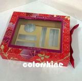 Boîte-cadeau en plastique d'emballage d'impression d'écran de Fllower